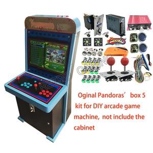 Kit de Máquina de juego de salón recreativo DIY 5 de Pandora Box 960 en 1 con fuente de alimentación, Harness de Jamma, copia, Joystick sanwa, botón LED, aceptador de monedas