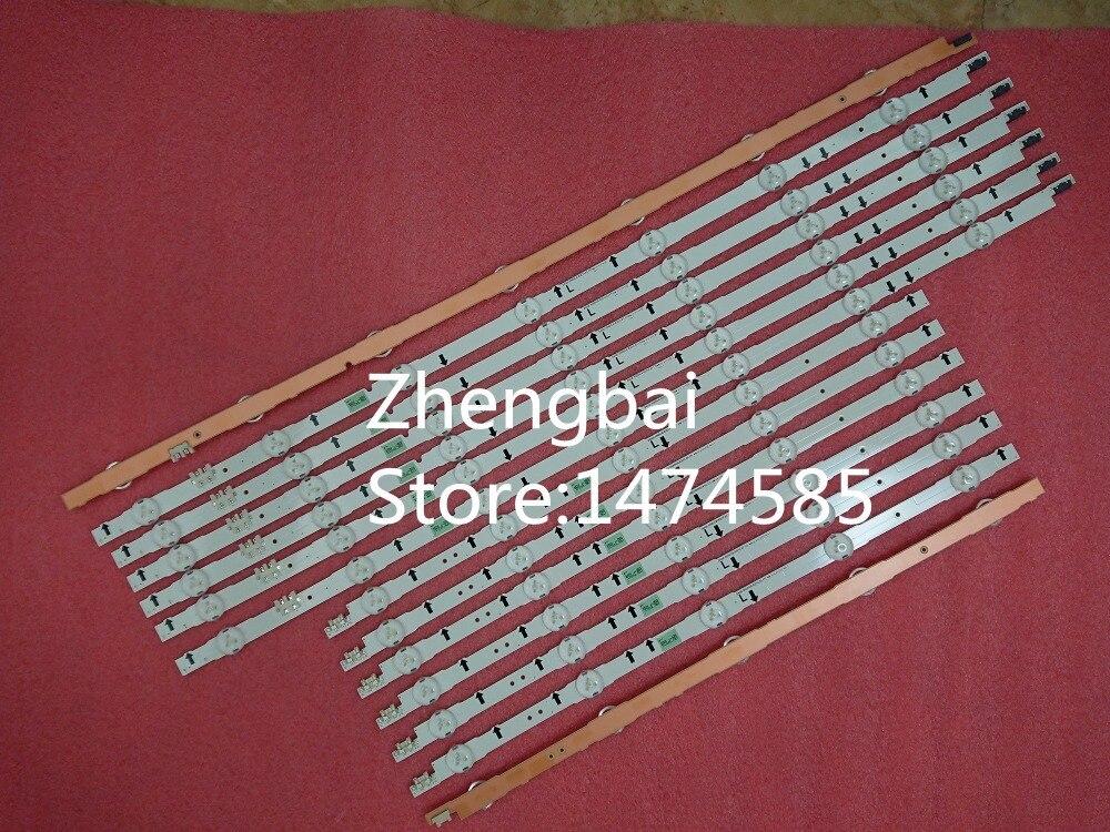New kit 12 PCS LED strip for samsung UE55H6670 2014SVS55 D4GE 550DCA R3 D4GE 550DCB R3