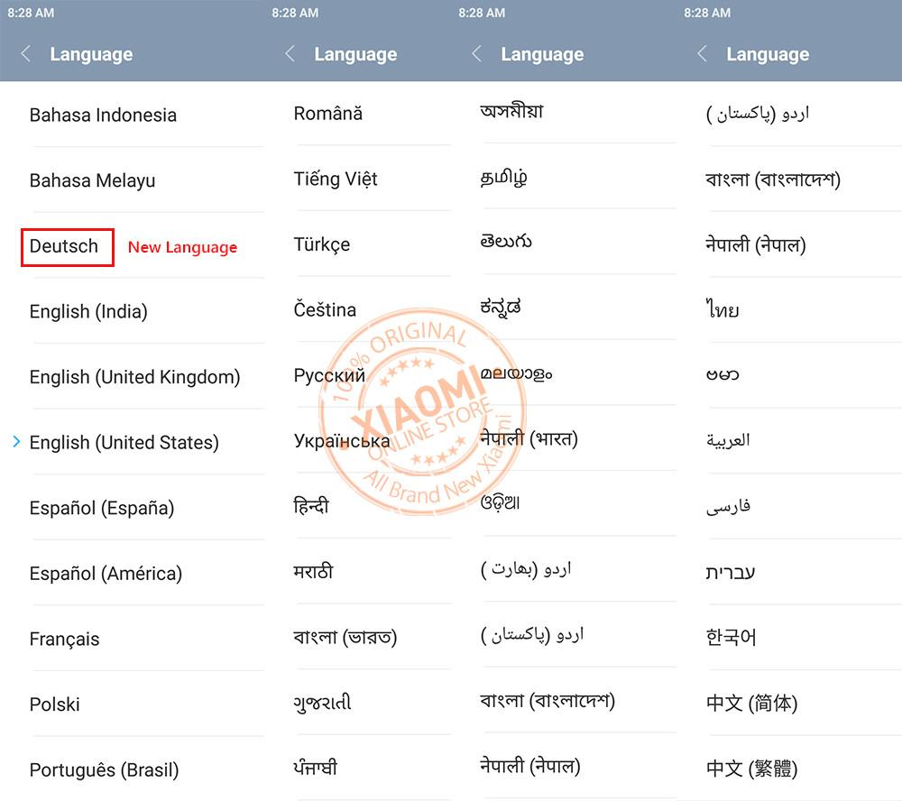 xiaomi mi 5 global version miui 8 language