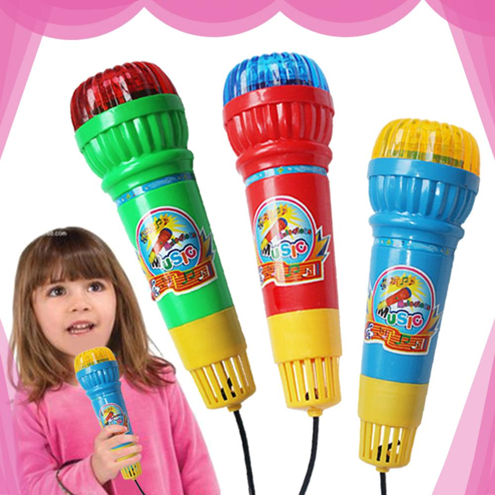 Kids Echo Microphone Mic Voice Changer Toy Birthday Party Song Toy Simulation Musical Instrument Pretend Toys Gift For Children