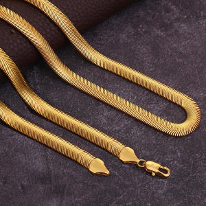 6mm 24.8 Inches Gold Color Hip Hop Ice Chain Necklace For Men Women Herringbone Chains Necklace for Jewelry Gift