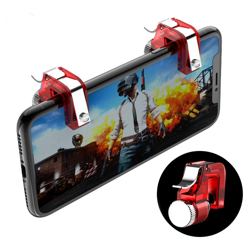 Metal Gamepad PUBG R11 Trigger Control Joystick Gamer Android Game pad L1R1 Controller Mobile Gamepad Gaming Shooter Fire Button