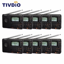 10pcs TIVDIO V-115 FM/AM/SW Radio Multiband MP3 Player REC Recorder Portable Radio Receiver with Sleep Timer F9205A