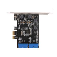 VAKIND PCI-E PCIE PCI Express X1 Expansion Card 5Gb/s Superspeed USB3.0 19PIN Interface Adapter Card 120X90X22mm