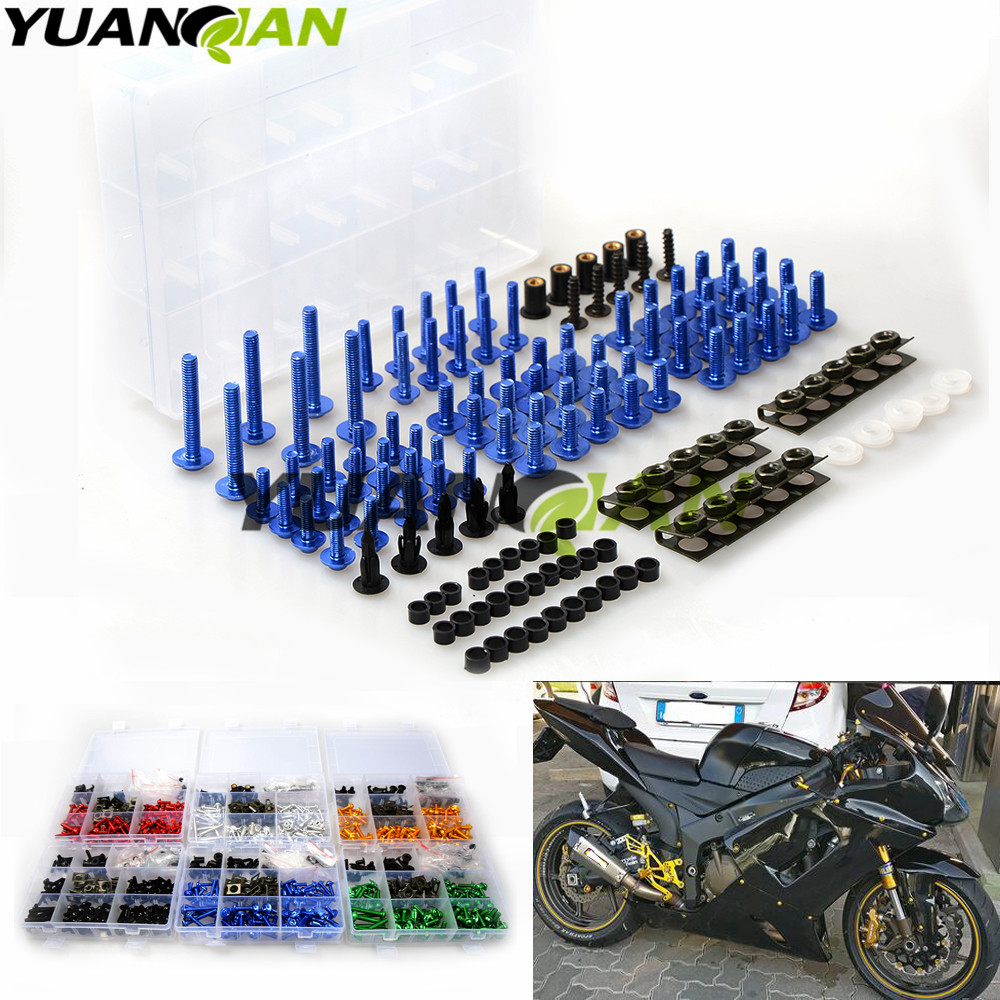 for Yamaha R3 R6 FZ1 FAZER 2006 2012 2013 FZ6 mt 07 09 Universal Motorcycle Fairing Bolt Screw Nuts Washers Fastener Fixation