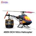 Gleagle 480N 2.4G 9CH MINI RTF Nitro Combustível/RTG Aeronaves com Caixa de Presente 3D conluio Helicóptero DO RC Nitro