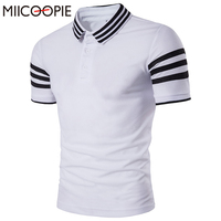 2017 New Brand Summer Men Polo Shirt Striped Cotton Short Sleeve Men S Casual Polos Slim