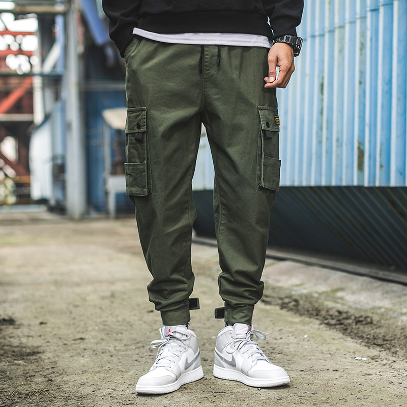 Spring Ins Men's Overalls Men's Tide Brand Straight Sports Korean Version Of The Trend Of The Pants Pants Casual Pants Men