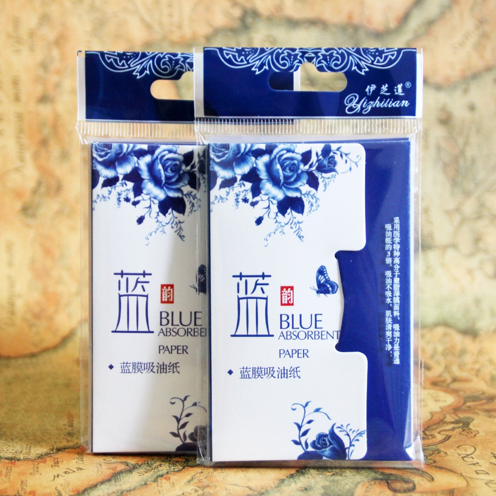 1pack=50pcs Hot Sales Paper Pulp Random Facial Oil Control Absorption Film Tissue #S807 Makeup Blotting Paper