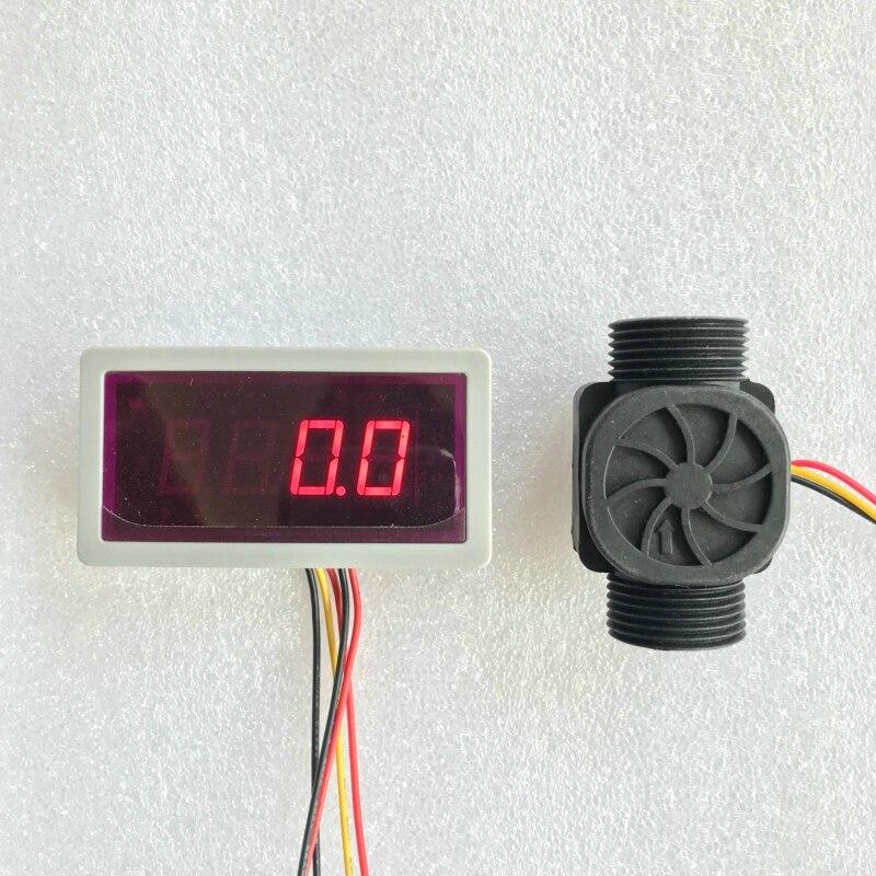 Usn-hs43ta 1-60l/min 3/4 durchflusssensor Durchflussmesser Und Alarmer Flow Rate Display Frequenzzähler Halle Wasserdurchflusssensor Werkzeuge Aktiv Us208ma