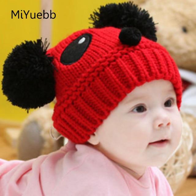 3 mois à 3 ans hiver bébé garçon fille panda chapeau enfants chapeau tricot  chapeau bébé 26ac0a07f8a