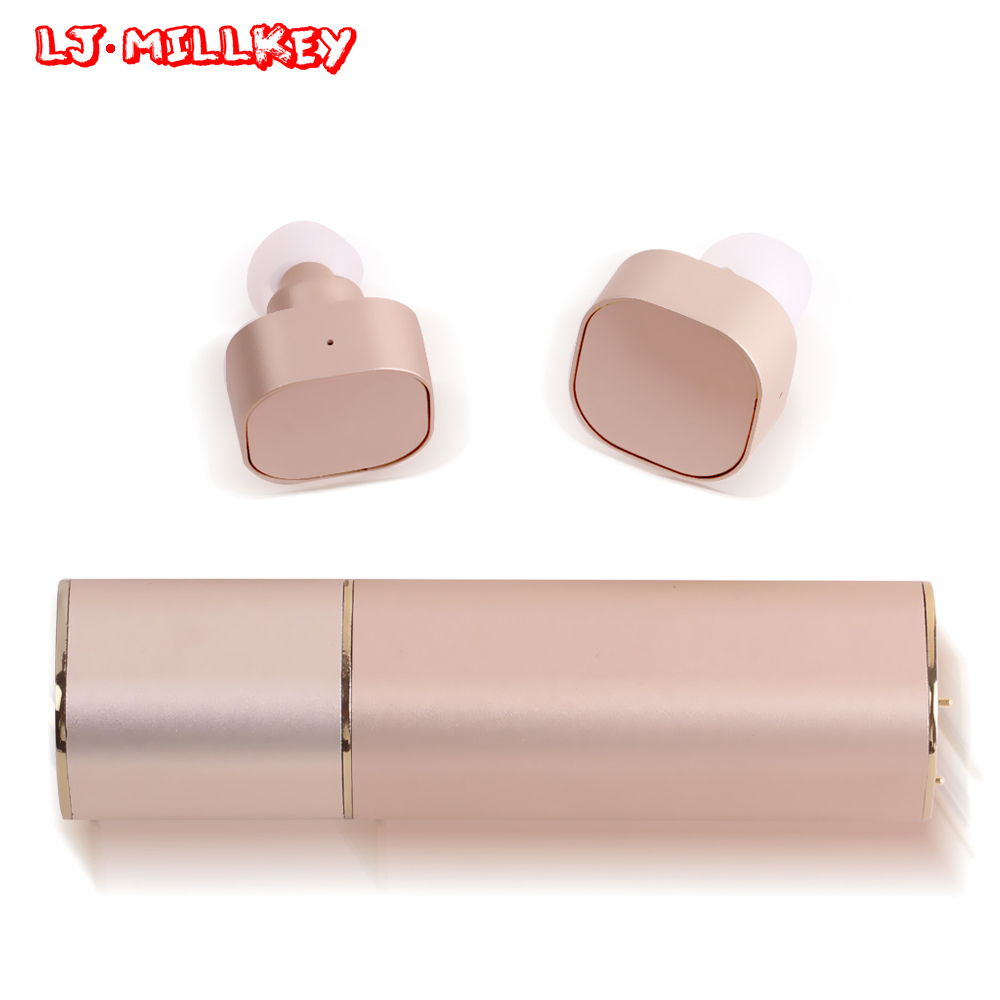 TWS Invisible Mini Headset 3D Stereo Hands-free Noise Reduction Bluetooth Headset Wireless Earphones and Power Bank box YZ135 k10a bluetooth headset voyager legend headphones stereo handsfree noise reduction bluetooth earphones with storage box