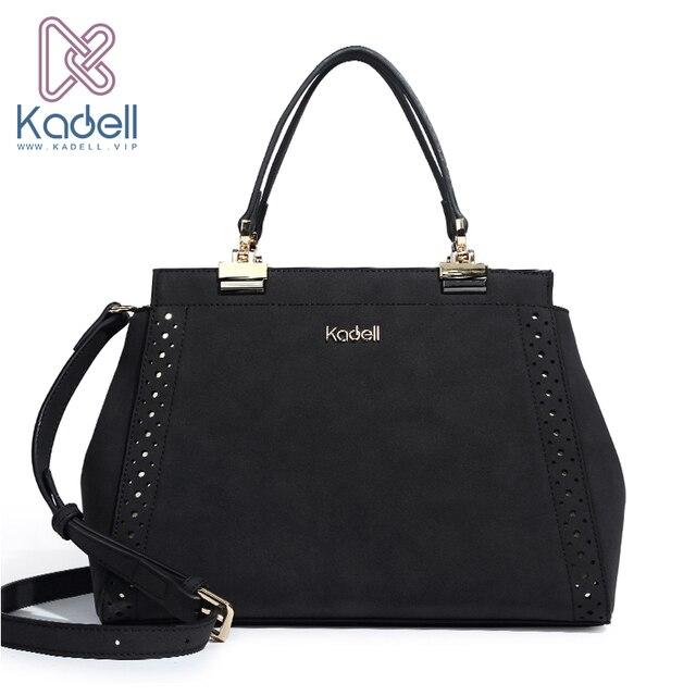 Kadell бренд высокое качество Для женщин сумка нубук Wwomen сумки Винтаж сумка Топ-Ручка Доктор сумка Сумки