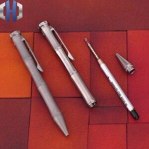 Image 3 - التيتانيوم التكتيكية القلم الدوران وظيفة EDC المحمولة نافذة كسر المحمولة الذكور والإناث الهدايا