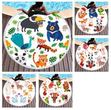 Free shipping Cute Animal Panda Tiger Bear Monkey Fox Peacock Swan Sweet Love Pattern Swim Pool Bath beach towel Blanket цена 2017