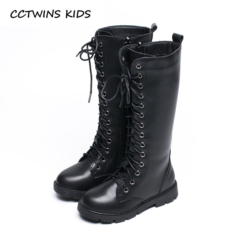 CCTWINS KIDS 2018 Autumn Children Pu Leather Boot Baby Girl Fashion Over The Knee Boot Toddler Black Brand Shoe H005 cctwins kids 2017 children brand high boot kid fashion over the knee boot baby girl toddler genuine leather black shoe c1312
