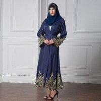 2017 Women Long Islam Muslim Dress Long Sleeve Loose Vintage Clothing Islamic Abaya Plus Size 5XL