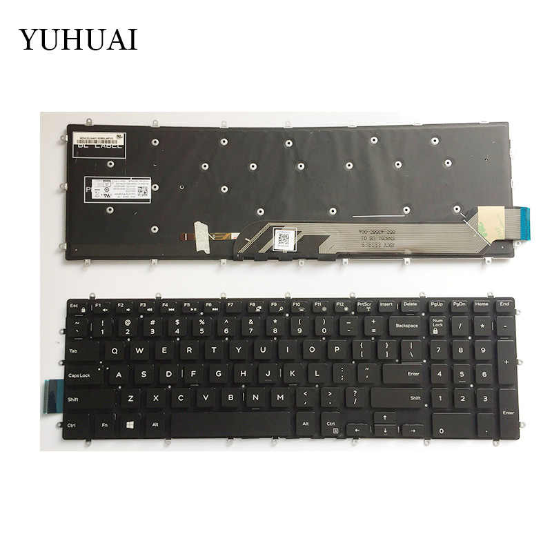 US คีย์บอร์ดใหม่สำหรับ Dell Inspiron PK131Q02B00 NSK-EC0BC 01 9Z. NCZLD. A01 03 NVJK แป้นพิมพ์แล็ปท็อปสีดำ