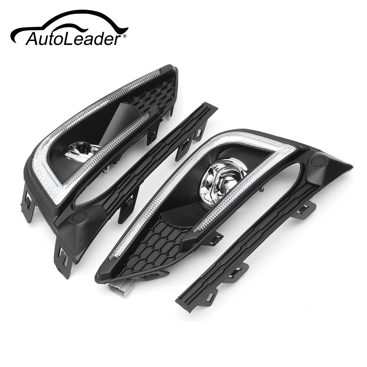 AutoLeader Car LED DRL Daytime Running Lights w/ Fog Driving Lamp Cover For Chevrolet/Cruze 2016-2017 ABS 12V недорого