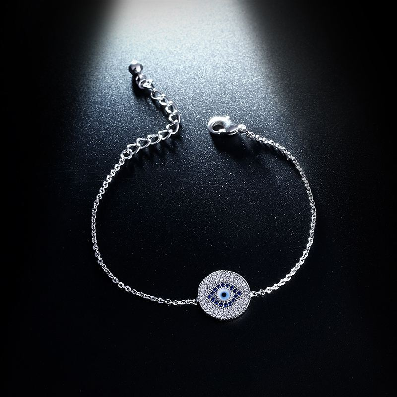 78b64505ea4 OCESRIO Blue Turkey Evil Eye Bracelet Round Girls Charm Bracelets ...