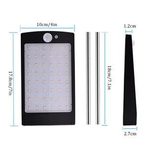 Image 2 - אורות שמש חיצוני 48 LED קיר שמש Motion חיישן אור עם מרחוק בקר אלחוטי אבטחה עמיד למים מנורת קיר
