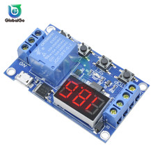 цена на 5V Micro USB Time Delay Relay Module 4 Button 3 Digit Digital Tube LED Digital Time Delay Relay Trigger Timer Control Switch