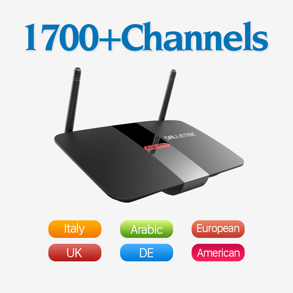 Android TV Set Top Box Quad Core Wifi with HD 1700 IPTV Channels Subscription Europe Arabic French Italy UK Smart Media Player iptv streaming box leadcool android wifi 1g 8g include 1700 italy portugal french receiver europe arabic channels package