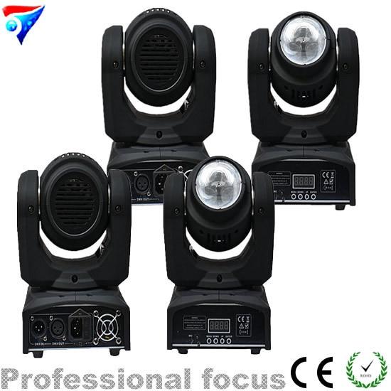 Penghantaran Percuma 8pcs / Lot Murah Quad Warna 40w RGBW Led Rasuk Mini Bergerak Ketua Lampu 4in1 Led Rasuk Mini Spot Bergerak Head Light DMX