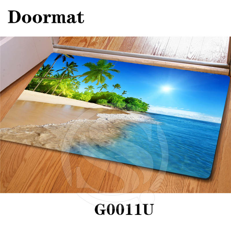 Free Shipping Custom Caribbean beach DoorMat Art Pattern Printed Carpet Floor Hall Bedroom Cool Pad Fashion Rug SQ0626-LYp99 image