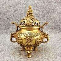 Incense burner copper incense burner buddha with three legged antique incense burner daming xuande