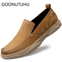 2019 style fashion men's shoes casual genuine leather cowhide loafers male slip on shoe man flats driving shoes for men hot sale genuine cowhide leather men s casual shoes autumn fashion crocodile grain slip on flats shoe