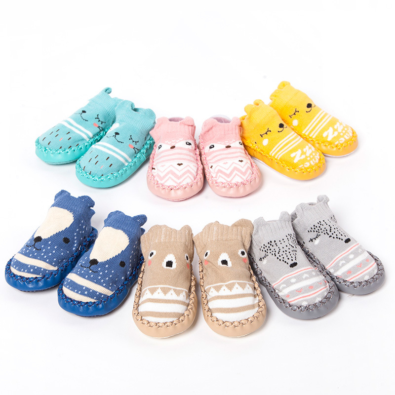 Newborn Spring Infant Socks Anti Slip Cartoon baby shoes socks Baby Girl Socks LMY010