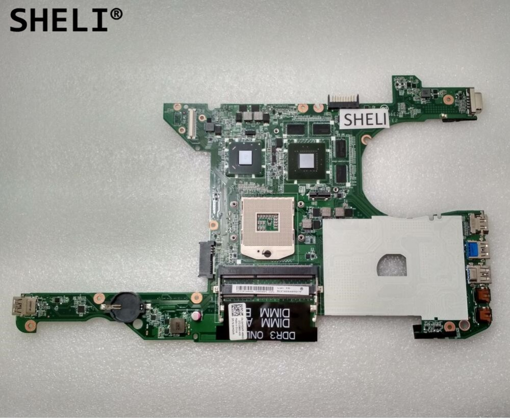 SHELI For Dell 14R 5420 Motherboard with N13P-GL-A1 GT630M 1GB DA0R08MB6E2 HMGWR 0HMGWR CN-0HMGWR sheli for dell 1645 motherboard with hd 4670 1gb da0rm5mb8e0 cn 0y507r 0y507r y507r