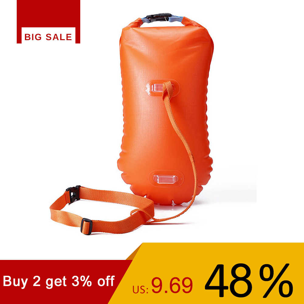 Multifunctional Waterproof PVC Swimming Buoy Safety Air Dry Float Bag Tow Float Swimming Sailing Inflatable Flotation Bag