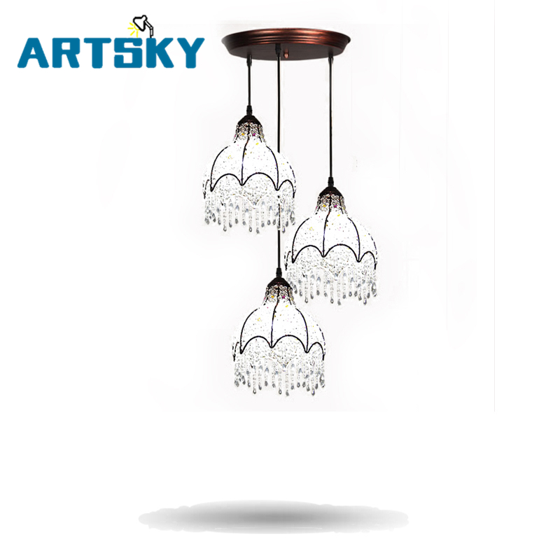 2016 Modern Europe LED Crystal Pendant Lights Creative Pendant Lamps Light for Bedroom Bathroom Kitchen LED Pendant Lamp crystal pendant light fashion gold pendant light modern pendant lights bedroom lamp decoration lamps