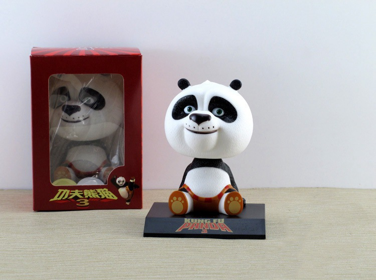 The wholesale animation Kung Fu Panda 3 Q version of Panda Po Bobblehead car decoration set