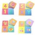 10 Pçs/lote Rastejando Tapetes de Jogo Do Bebê Chão Puzzle Educacionais Crianças Brinquedos Puzzle de Espuma Tapete Eva Tapete De Espuma Quadrado