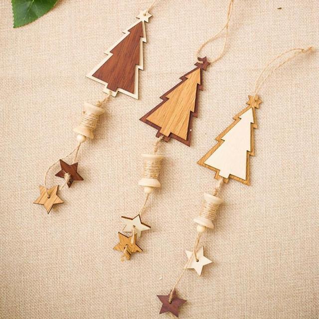0986e3780ef0f 5 estrella colgante de pared lindo árbol de Navidad decoraciones madera  preciosa navidad del colgante para. Sitúa el ...