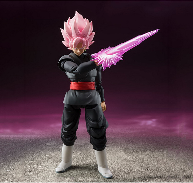 Anime Dragon Ball Z SHF Figuarts Super Saiyan Gokou Black Joint Movable Action Figure Collection Model Kids Toy Doll 15cm