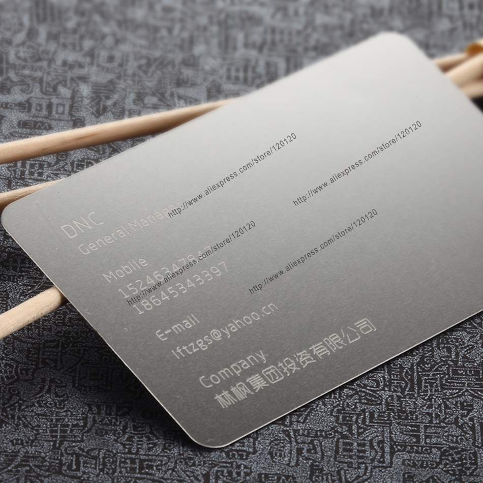 Ruler printing/ stainless steel metal business card-in Business ...