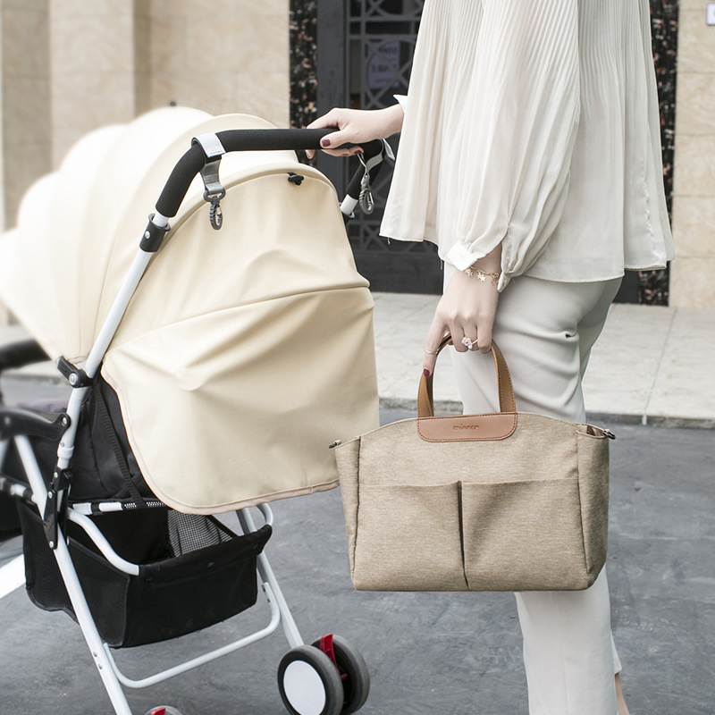 Mummy Diaper Bag Baby Stroller Organizer Baby Care Large Capacity Diaper Bag Maternity Wet Bag Waterproof Stroller Accessory