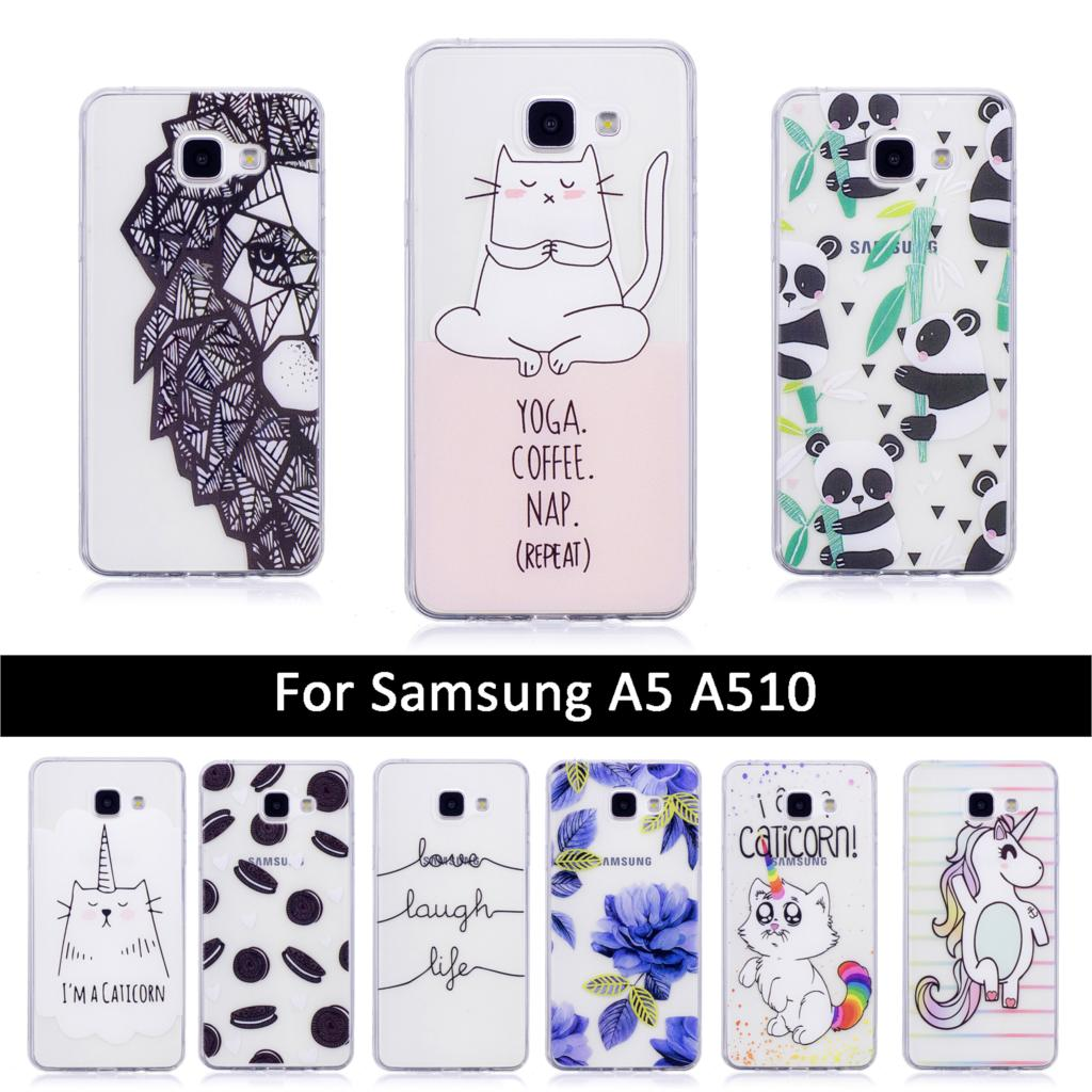 Fashion Printing Case For <font><b>Samsung</b></font> <font><b>Galaxy</b></font> <font><b>A5</b></font> 2016 A510 A510F Soft TPU Silicone Cover for <font><b>samsung</b></font> <font><b>A5</b></font> A 5 <font><b>510</b></font> 510f 2016 Cases Funda image