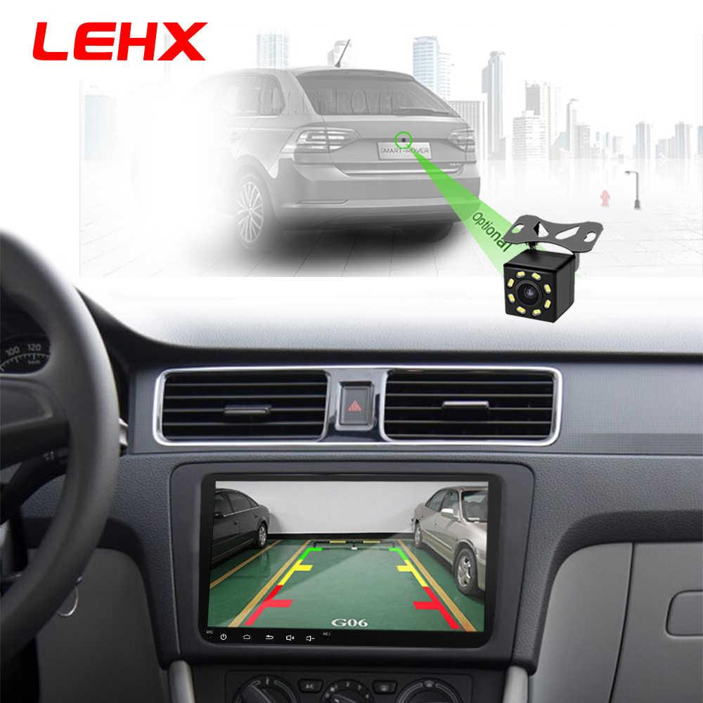 LEHX 9 بوصة سيارة أندرويد 8.1 راديو السيارة لتحديد المواقع راديو تلقائي 2 الدين USB لشركة فولكس فاجن سكودا اوكتافيا جولف 5 6 توران باسات B6 جيتا بولو تيجوان