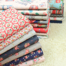 half meter 100% cotton plain fabric with cartoon rose floral print, pulp hard cloth for handmade DIY bag sewing tissue A829 картридж sakura q2612a fx9 fx10