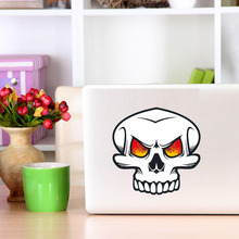 Mad Skull Face with Fire in His Eyes Full Color Decal Computer