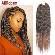 18 22 inch 3D Cubic Twist Crochet Hair 12 Strands/pack Ombre Synthetic Braids Hair Extension For Black African American Women