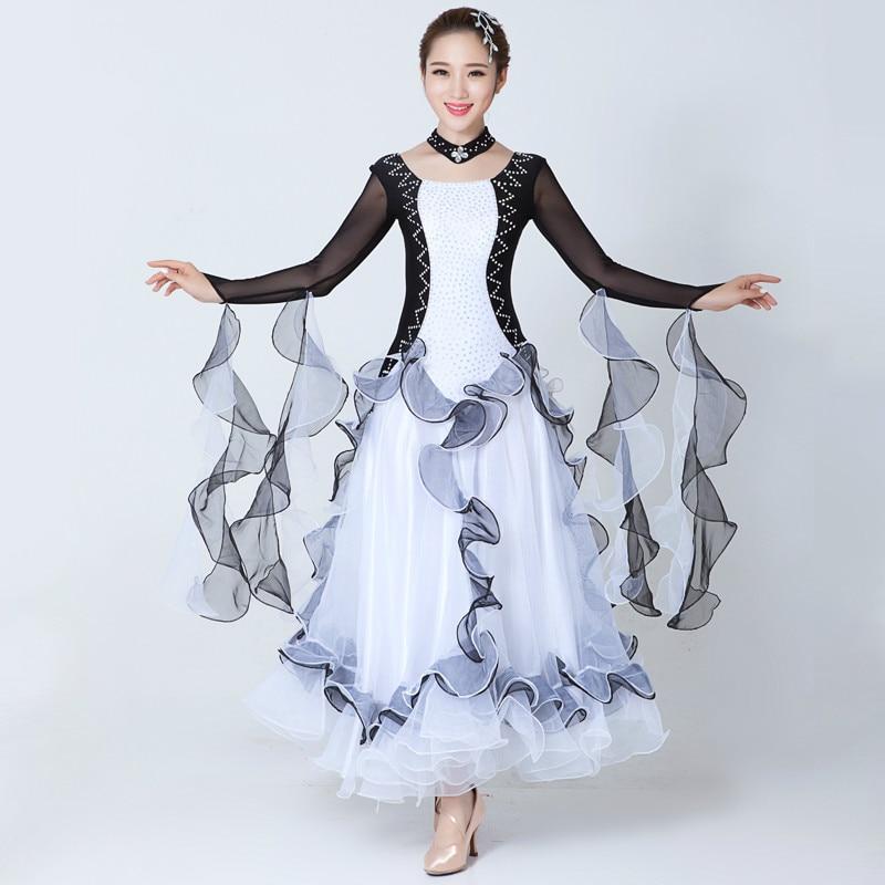 Modern Dance Ballroom Dancing Dress Adult Standard Ballroom Dance Dress for Waltz/tango/foxtrot Performance Competition Dress