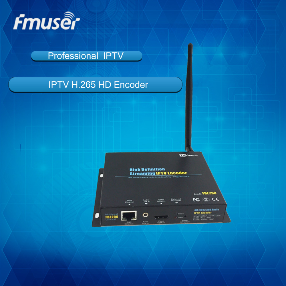 FMUSER H 264 H 265 Wireless IPTV Encoder HD IPTV Streaming Encoder IPTV Streaming font b
