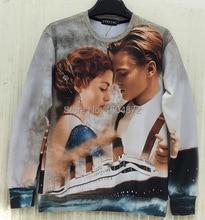 2016 neueste stil hochwertige mode Frauen/Männer Klassische Filme Titanic Schauspielerin Druck 3D Sweatshirts hip hop Hoodies