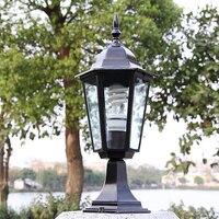 האירופי חיצוני חצר גן נתיב גינה עמיד למים מיוחדים תאורה דקורטיבית עמודת אורות מרפסת שחור/ברונזה אדום